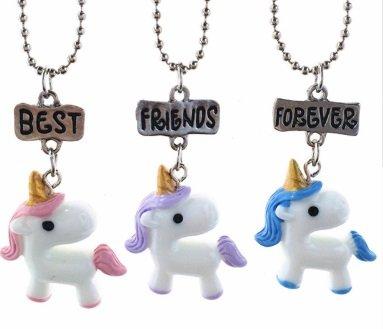 best friends forever vriendschap kettingen unicorn eenhoorn