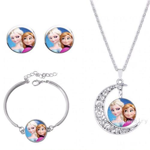 anna en elsa frozen sieraden set ketting armband en oorbellen