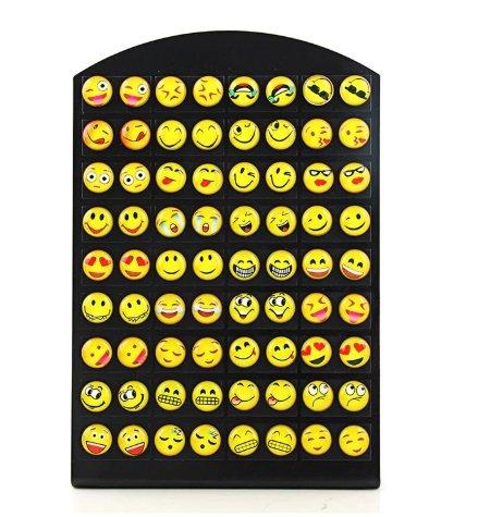 emoji oorbellen 36 paar met standaard