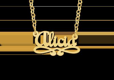 14 karaat gouden naamketting model alicia
