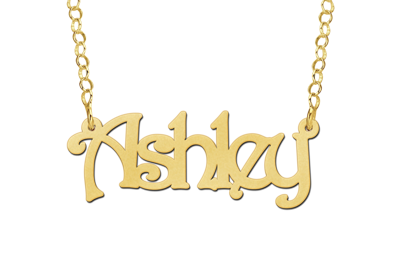 14 karaat gouden naamketting model ashley