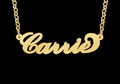 14 karaat gouden naamketting model carrie