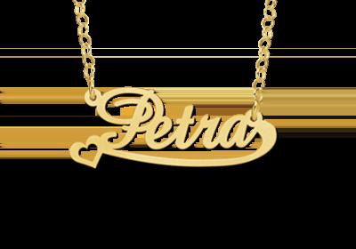14 karaat gouden naamketting model petra