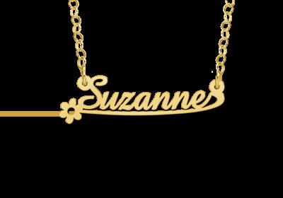 14 karaat gouden naamketting model suzanne