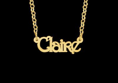 14 karaats gouden kinder naamketting model claire