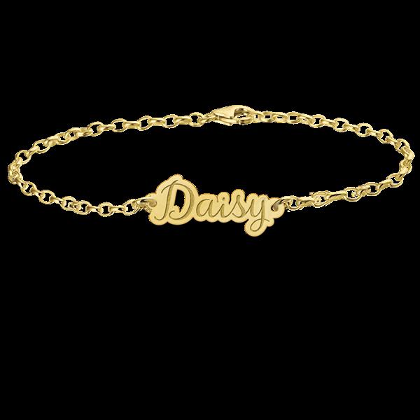 14 karaats gouden naamarmband model daisy