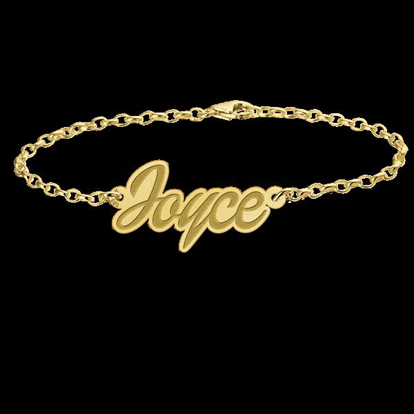 14 karaats gouden naamarmband model joyce