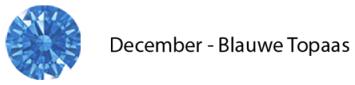 geboortesteen december sieraden blauwe topaas