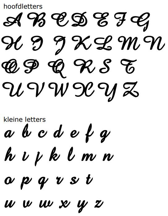 naamketting letters model claudia