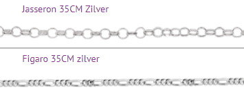 naam ketting kind zilver