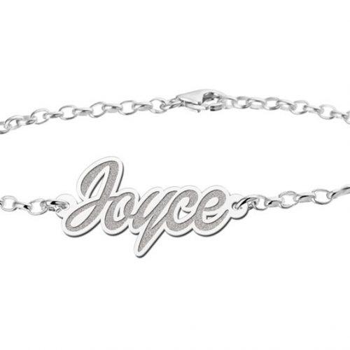 zilveren naamarmband model joyce