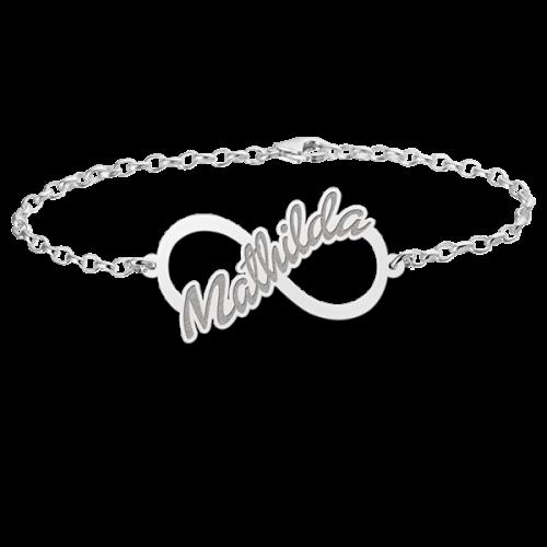 zilveren naamarmband met infinity teken model mathilda