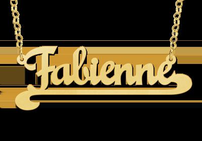 gouden ketting met naam voorbeeld fabienne
