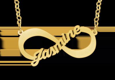 infinity ketting met naam goud