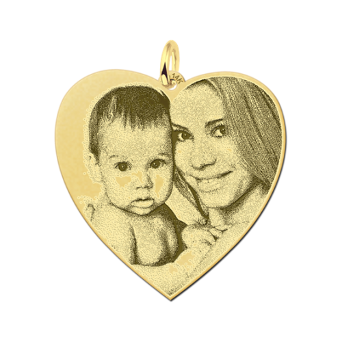 gouden hartjes hanger met foto