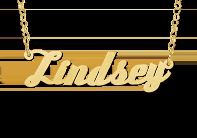 gouden naamketting voorbeeld lindsey