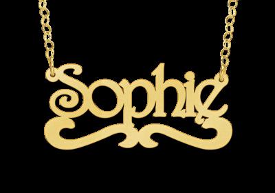 ketting met naam 14 karaats voorbeeld sophie