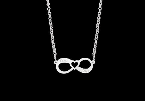 infinity ketting voor valentijn zilver