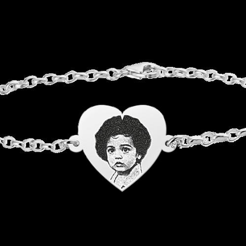 armband-met-foto-gegraveerd-hartje-zilver