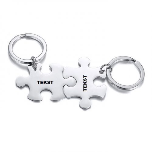 vriendschapsleutelhanger puzzelstukjes