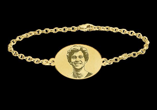 foto armband goud ovaal