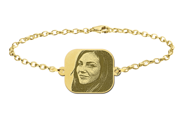 fotoop armband graveren goud