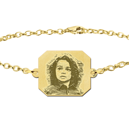 foto graveren armband goud
