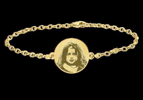 foto op armband goud
