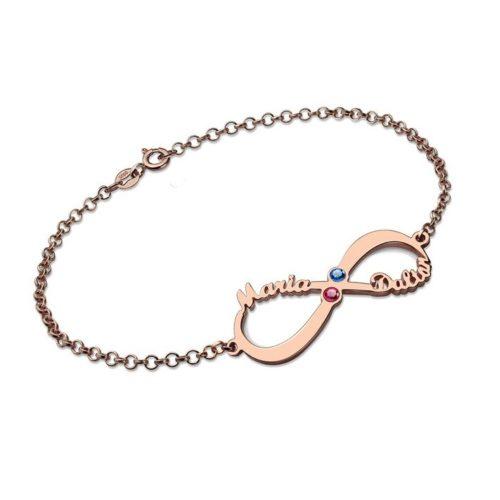 oneindigheidsteken armband met naam