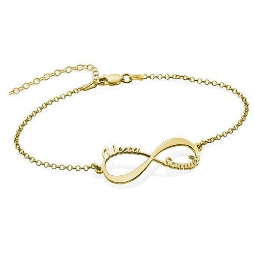 armband oneindigheidsteken 2 namen goud