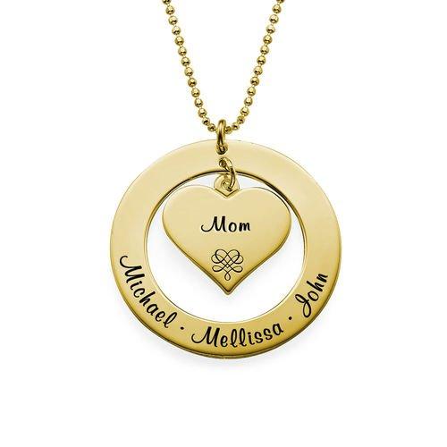 mama ketting met namen goud