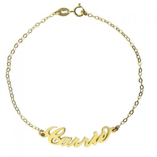 armband met eigen naam goud