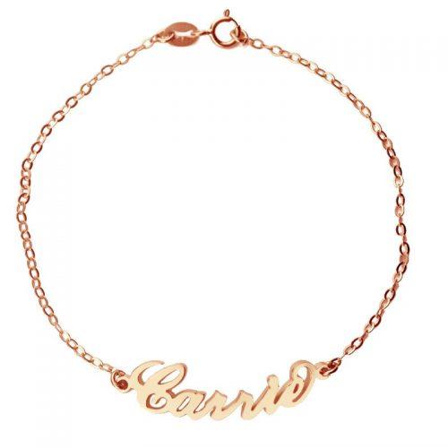 armband met naam rose goud