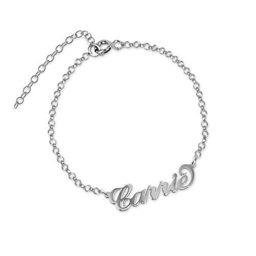 halve prijs nieuwe high nieuw kopen Naamarmband Carrie Style Zilver