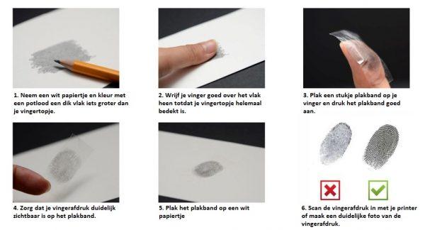 hoe maak je een vingerafdruk