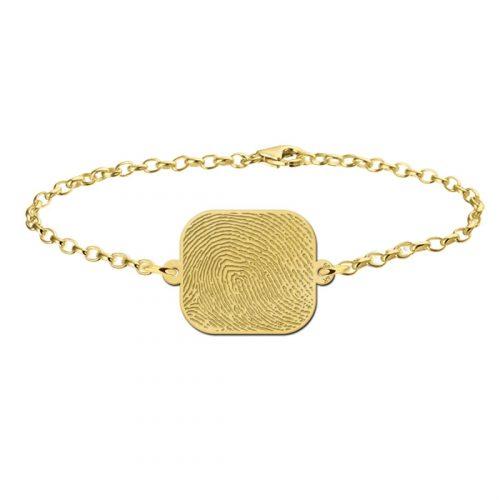 vingerafdruk armband echt goud
