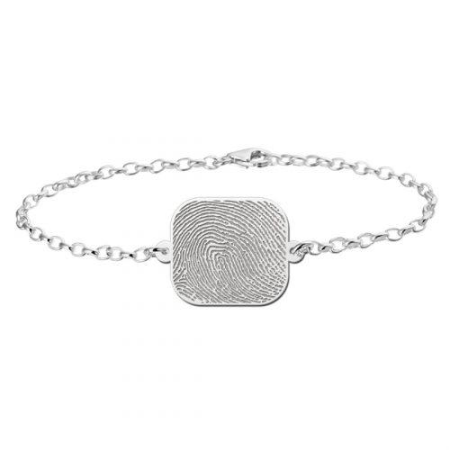 vingerafdruk graveren op armband zilver