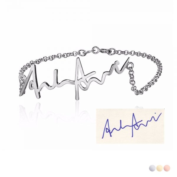 naamarmband eigen handschrift handtekening