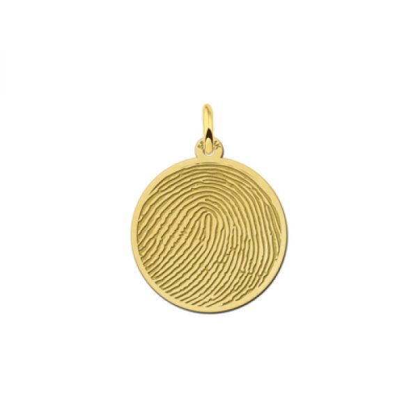 14 karaats gouden vingerafdruk hanger