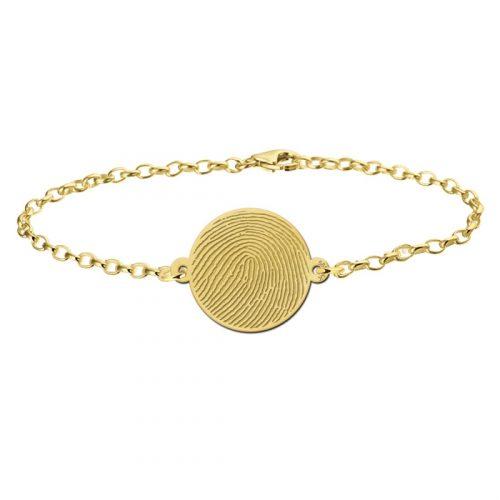 gouden-vingerafdruk-armband-rond