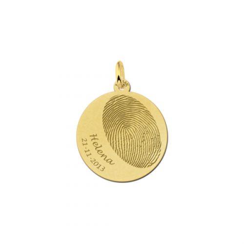 vingerafdruk op goud naam datum