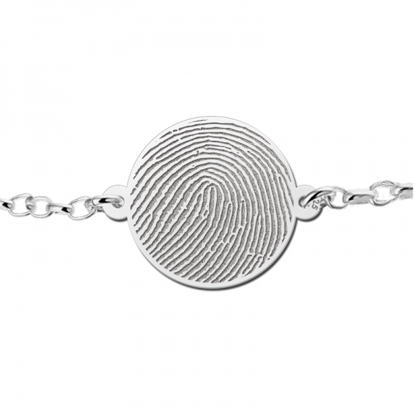 armband vingerafdruk zilver