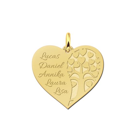 gouden-levensboom-hanger-met namen