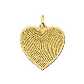 goud hartje met vingerafdruk