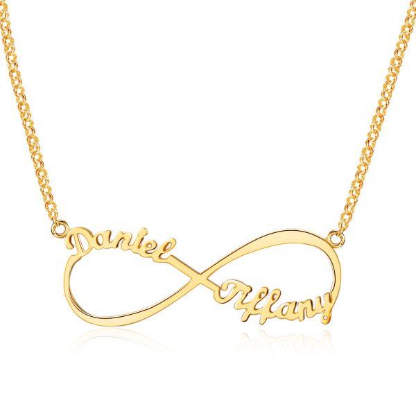 infinity ketting 2 namen goud